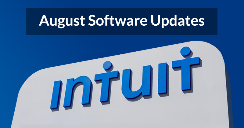 Intuit has announced August software updates