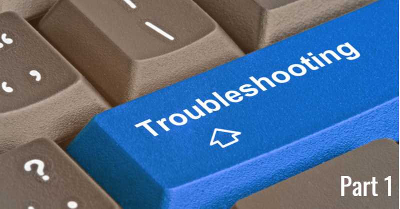 "Keyboard with ""Troubleshooting"" button"