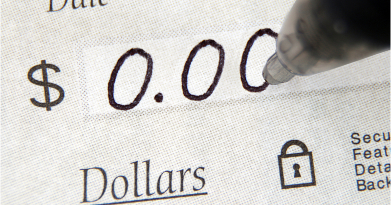 Zero dollar checks can be used for after-the-fact payroll entry