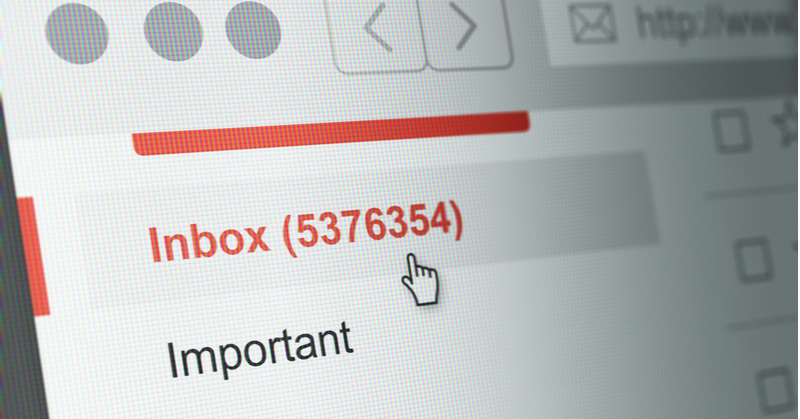 Overfull email inbox