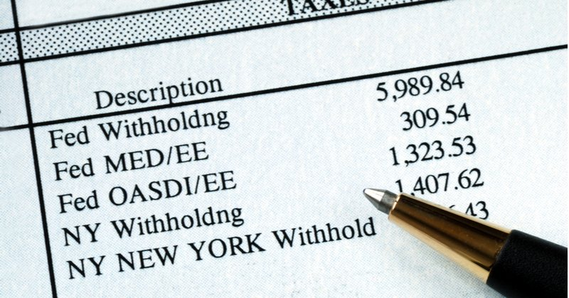 Payroll tax withholding