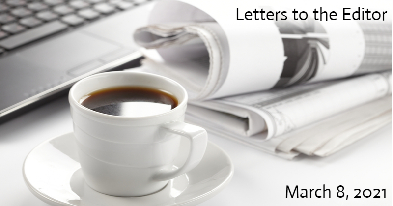 Letters to the Editor, March 8, 2021
